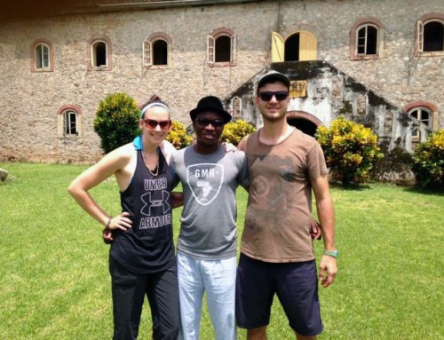 Kelly, Dominic, and Marko Meet at Princess Town Ghana for a Planning Session