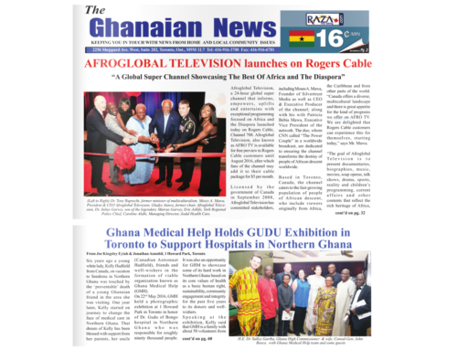 Ghanaian News Canada Makes The Gudu Spirit Front Page News